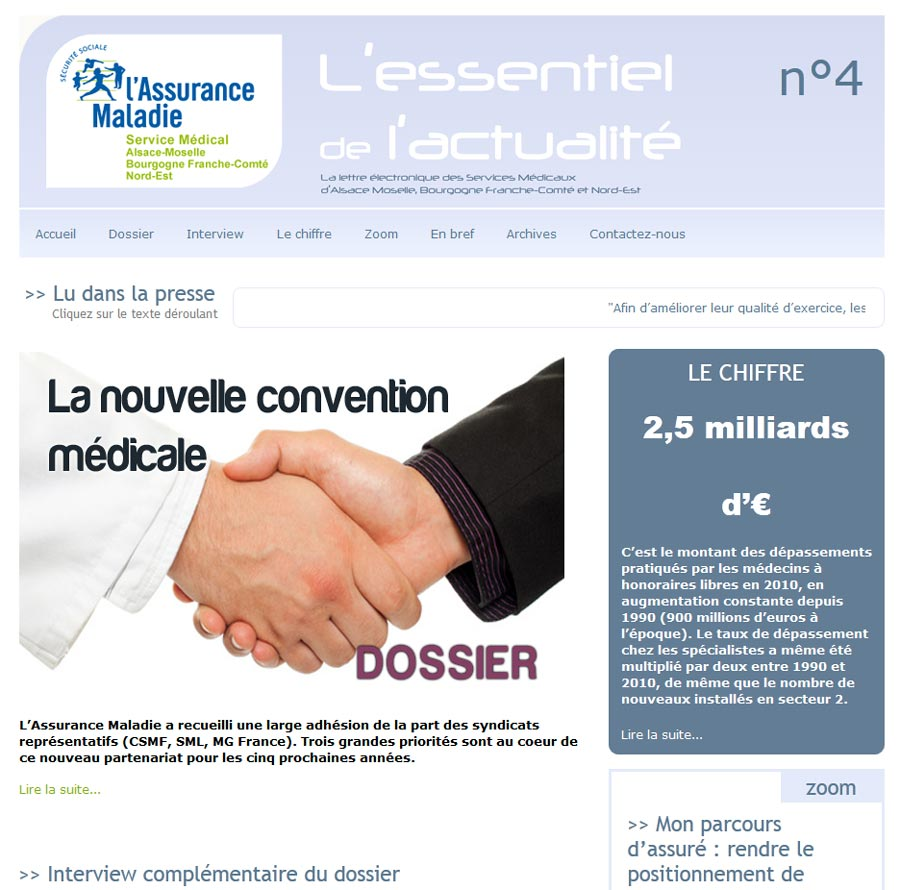 La newsletter version web